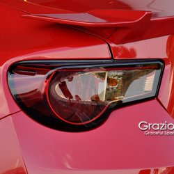 Grazio Red Red & Black Crystal Tail Lights