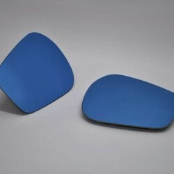 Real Emotion Wide Blue Side Mirrors